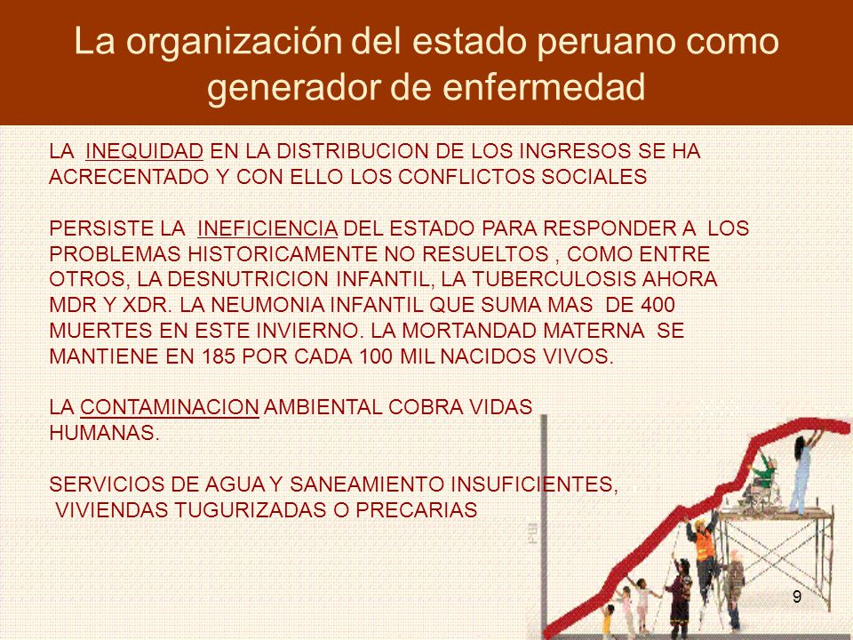 La organización del estado peruano como generador de enfermedad