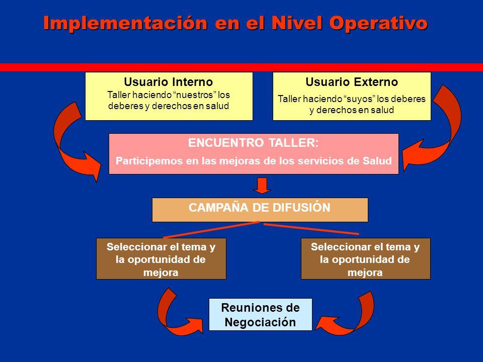 Implementación en el Nivel Operativo