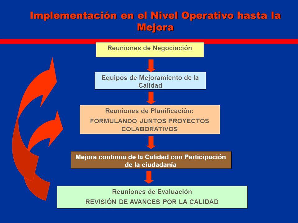 Implementación en el Nivel Operativo hasta la Mejora