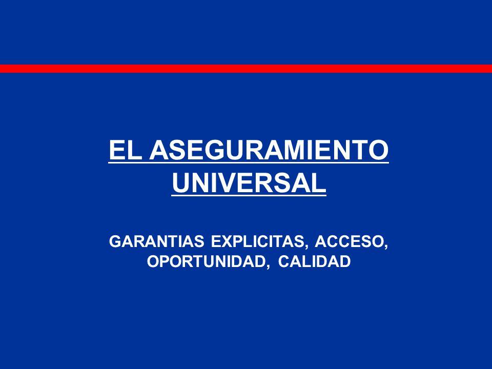 EL ASEGURAMIENTO UNIVERSAL