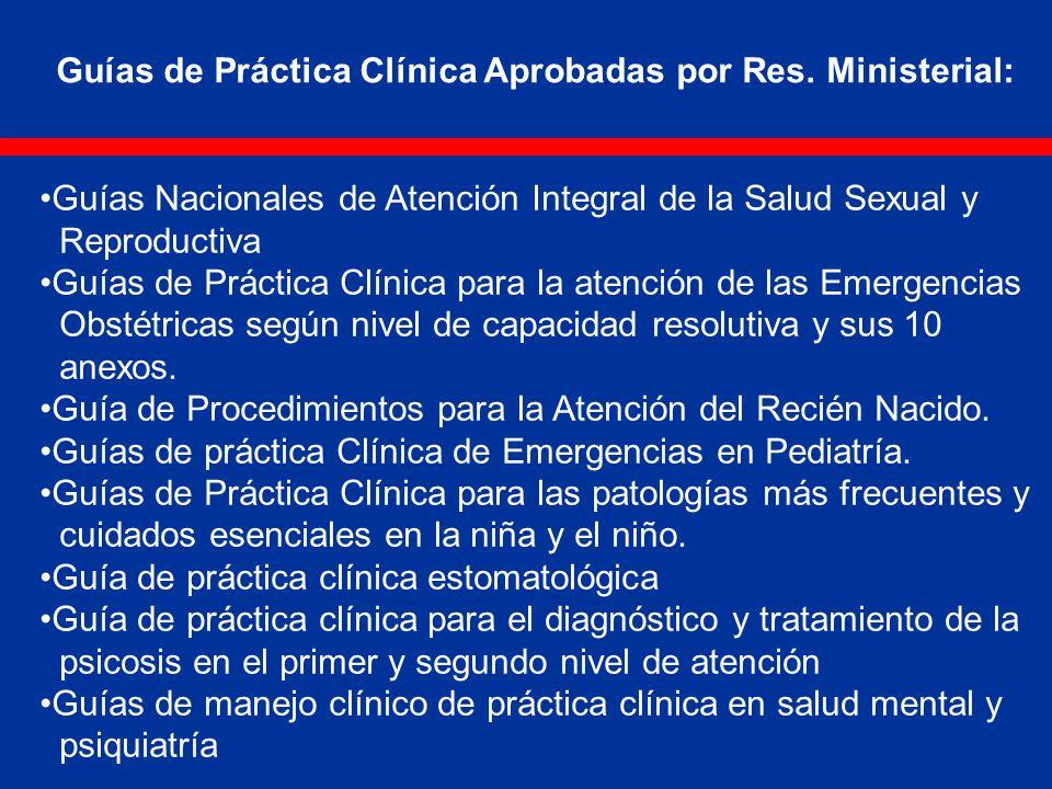 Guías de Práctica Clínica Aprobadas por Res. Ministerial: