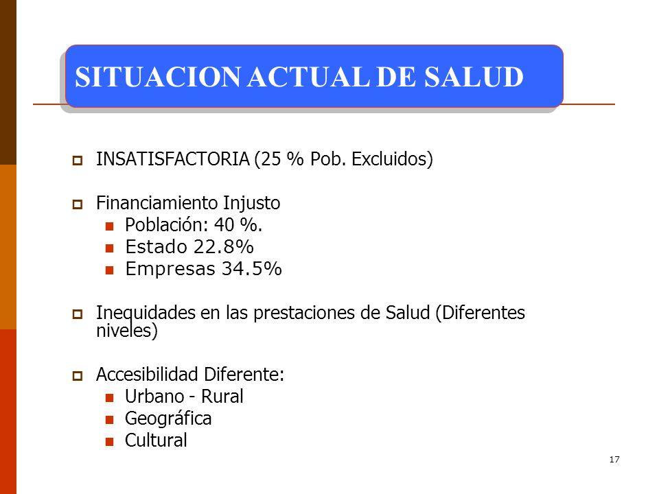 SITUACION ACTUAL DE SALUD