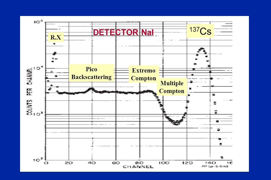 137Cs DETECTOR NaI R.X Pico Extremo Backscattering Compton Multiple