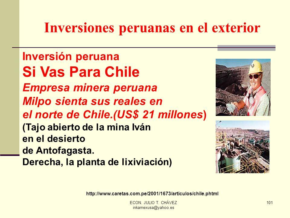 Inversiones peruanas en el exterior