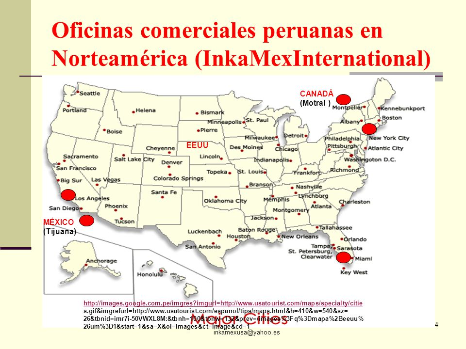 Oficinas comerciales peruanas en Norteamérica (InkaMexInternational)