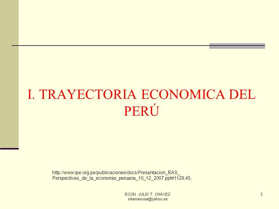 I. TRAYECTORIA ECONOMICA DEL PERÚ