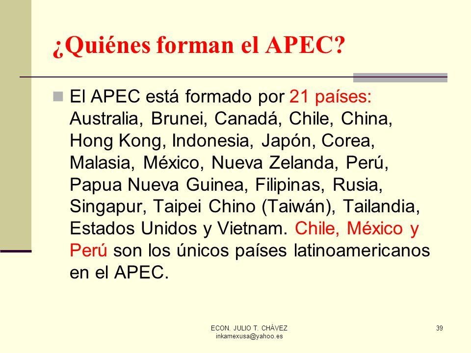 ¿Quiénes forman el APEC