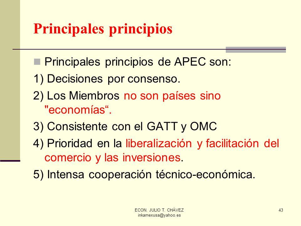 Principales principios