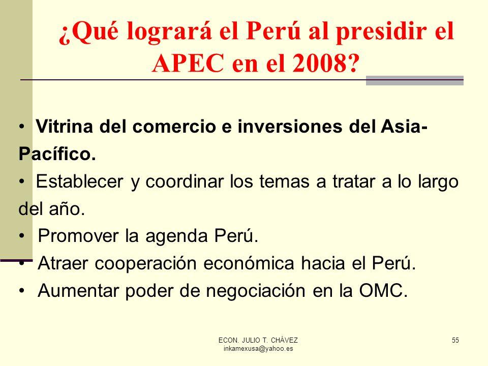 ¿Qué logrará el Perú al presidir el APEC en el 2008
