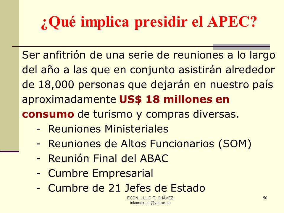 ¿Qué implica presidir el APEC