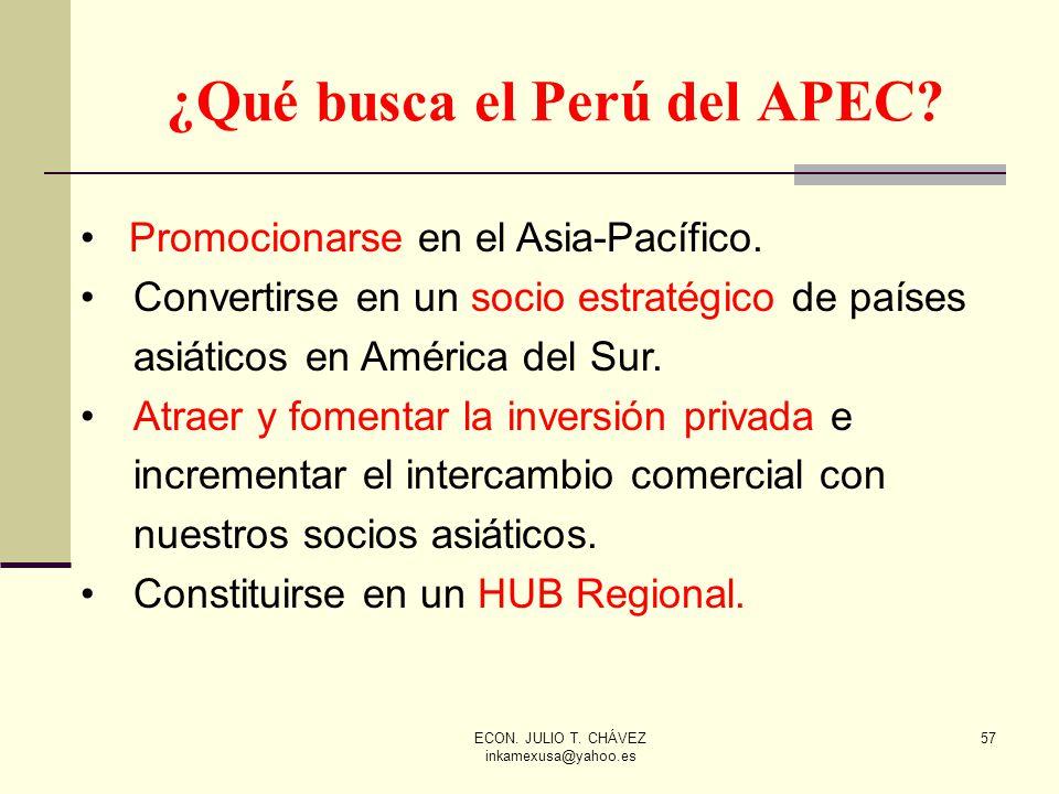 ¿Qué busca el Perú del APEC