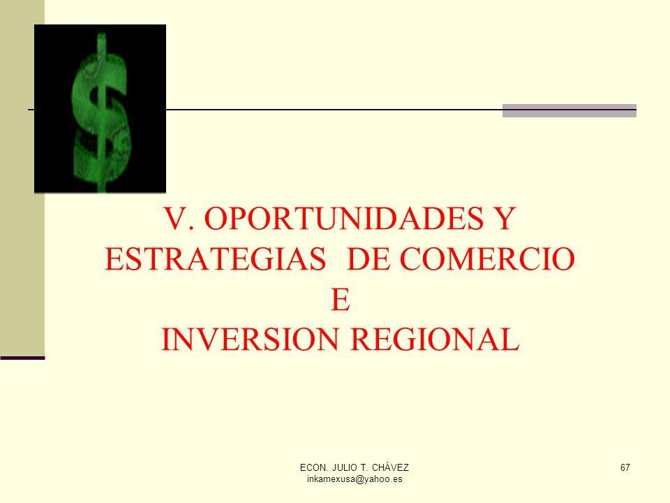 V. OPORTUNIDADES Y ESTRATEGIAS DE COMERCIO E INVERSION REGIONAL