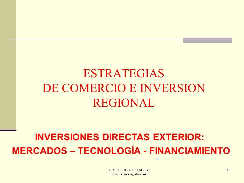 ESTRATEGIAS DE COMERCIO E INVERSION REGIONAL