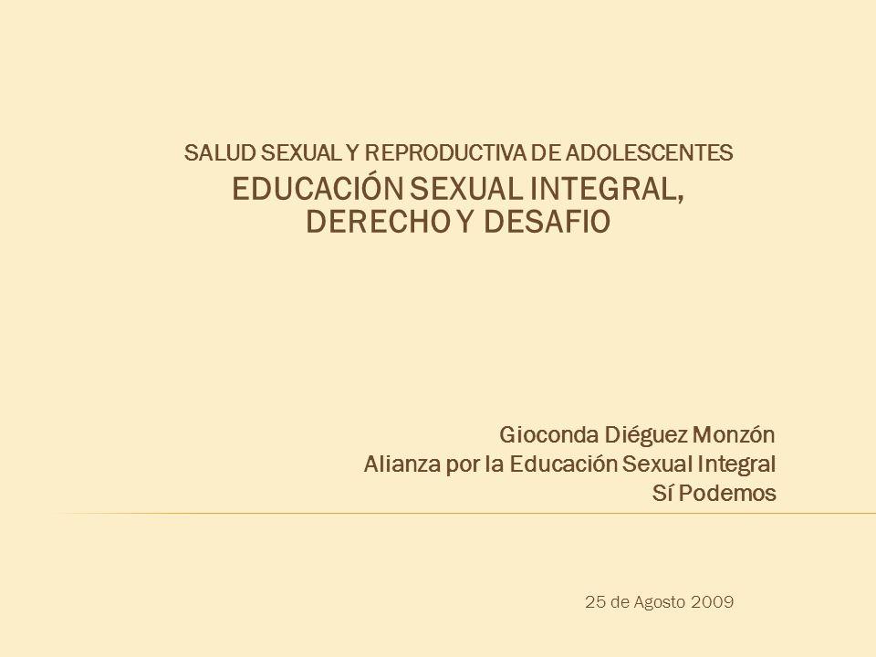 EDUCACIÓN SEXUAL INTEGRAL, DERECHO Y DESAFIO