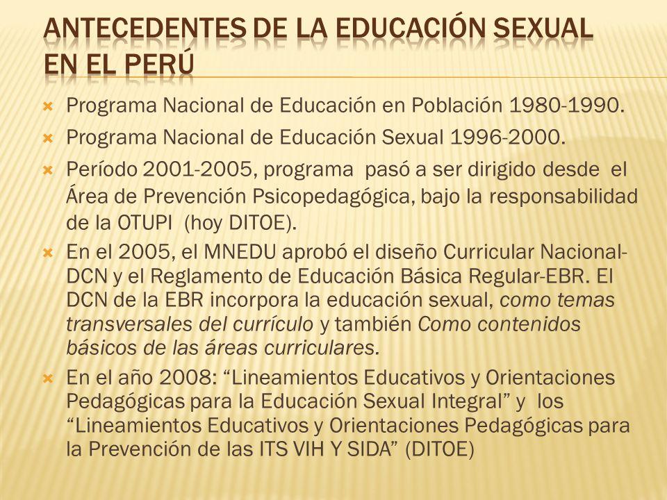 Antecedentes de la Educación sexual en el Perú