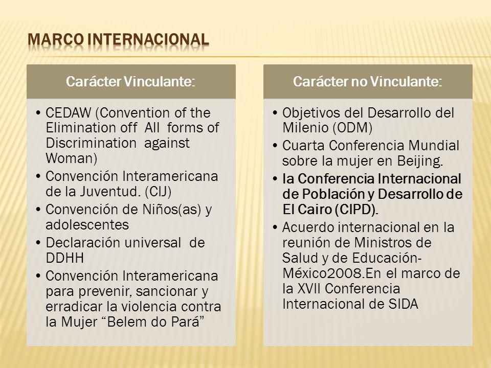Carácter no Vinculante: