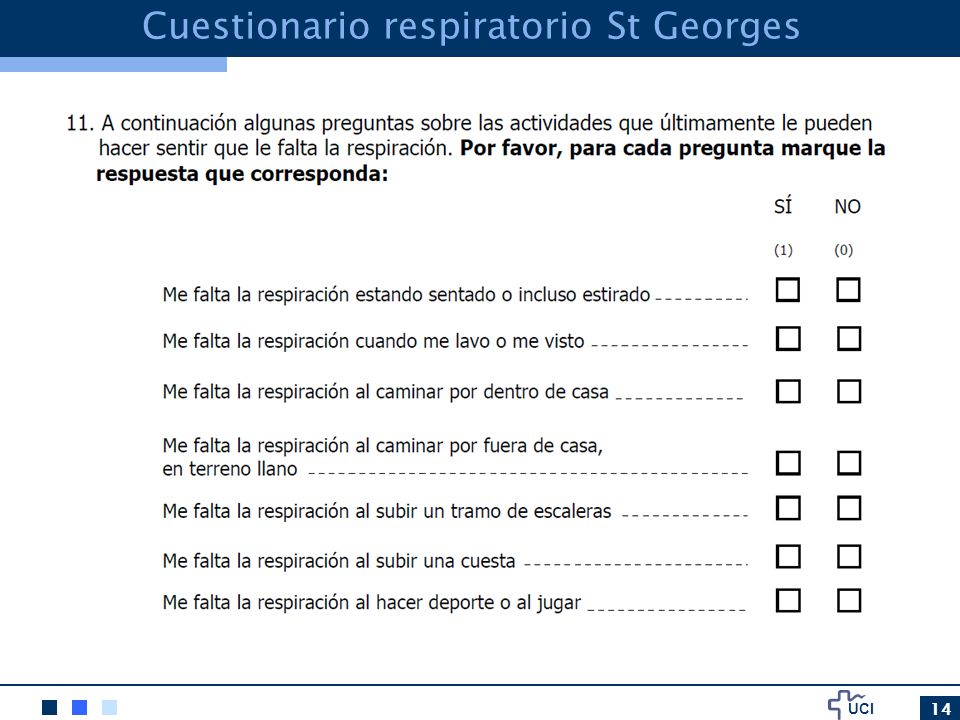 Cuestionario respiratorio St Georges