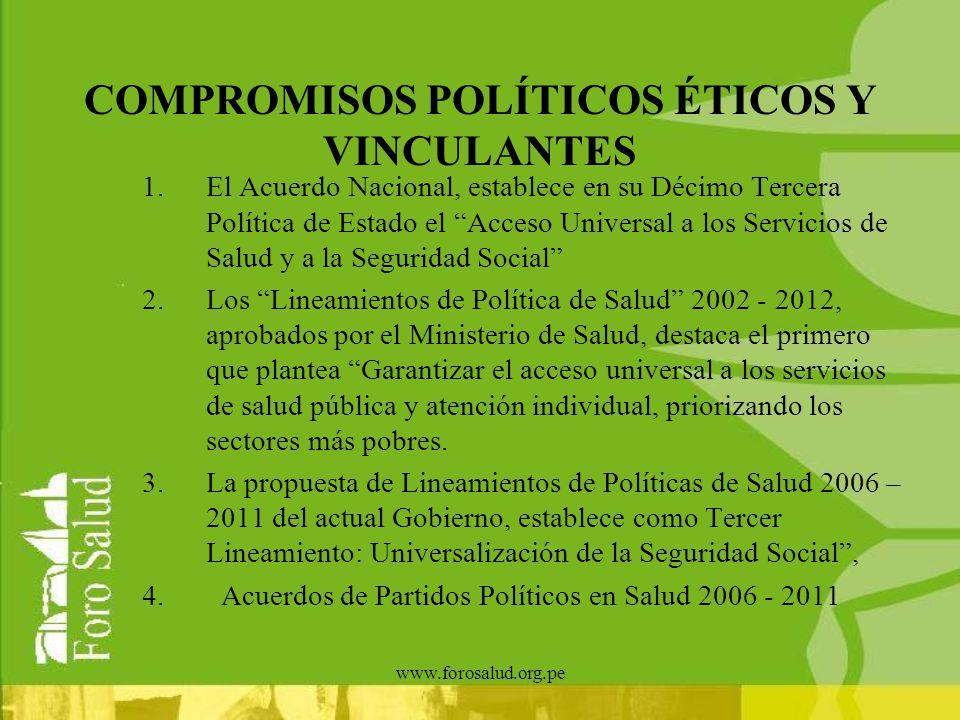 COMPROMISOS POLÍTICOS ÉTICOS Y VINCULANTES