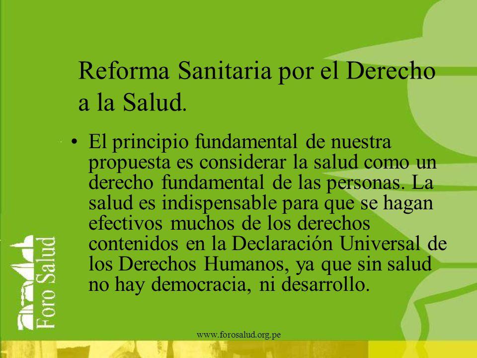 Reforma Sanitaria por el Derecho a la Salud.