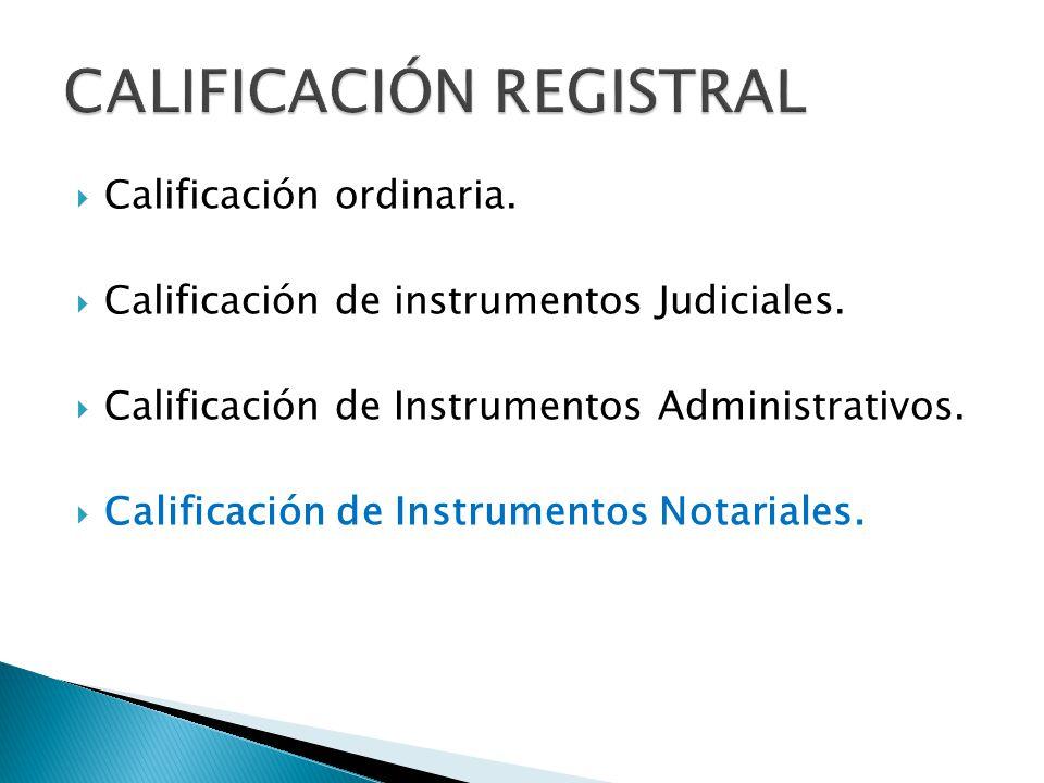 CALIFICACIÓN REGISTRAL