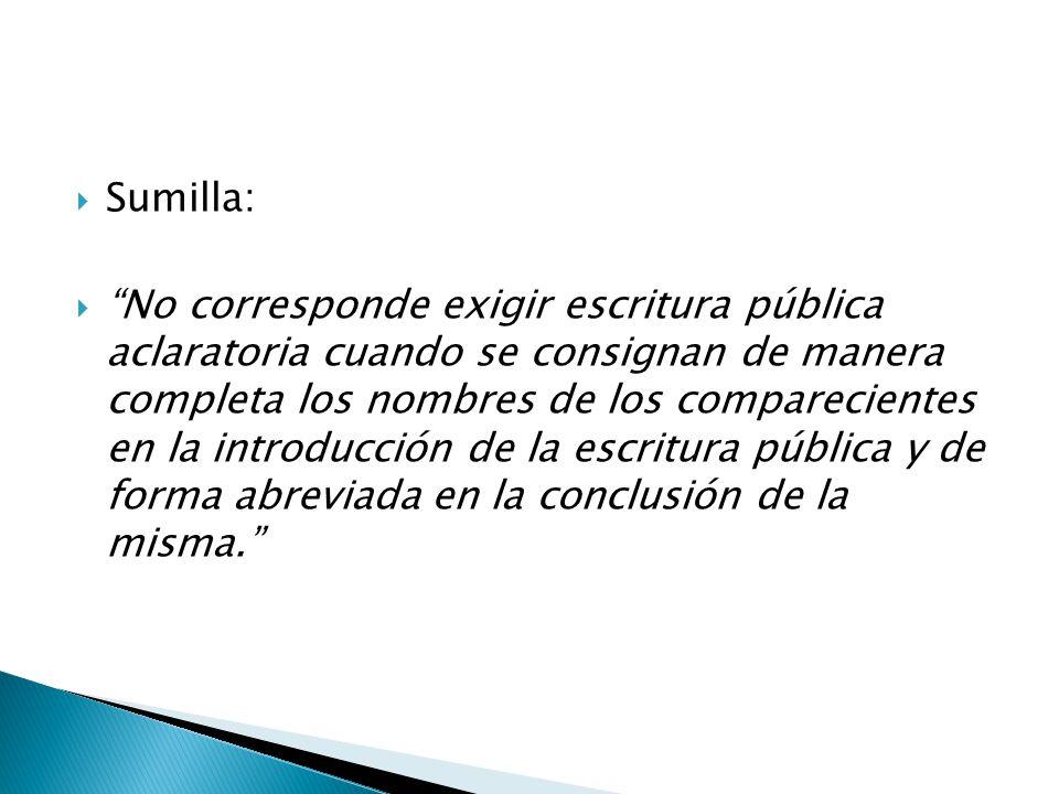 Sumilla: