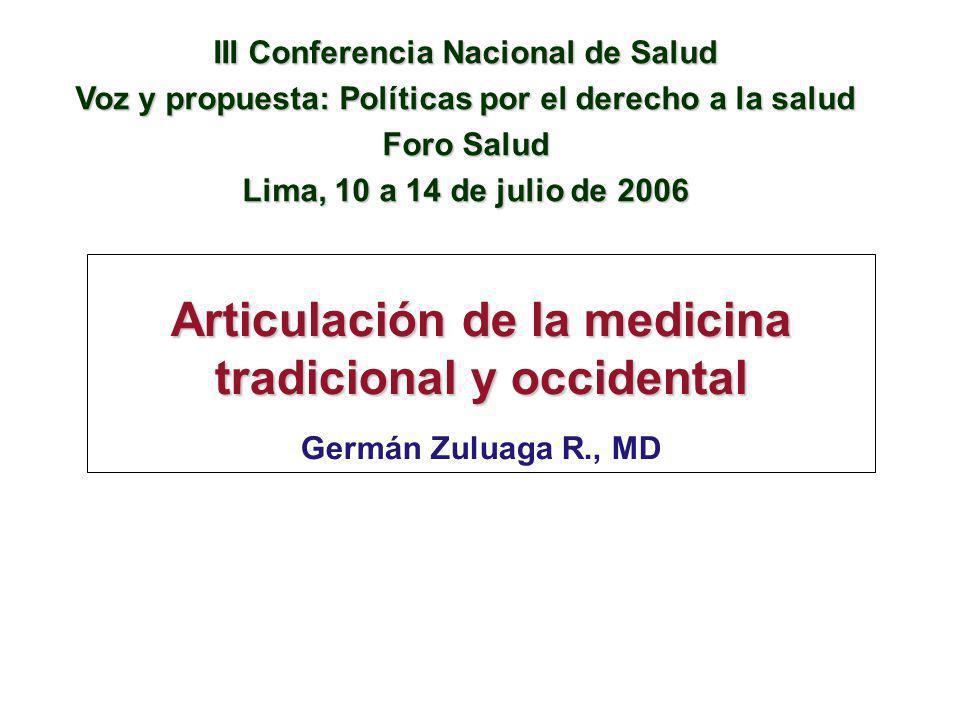 Articulación de la medicina tradicional y occidental