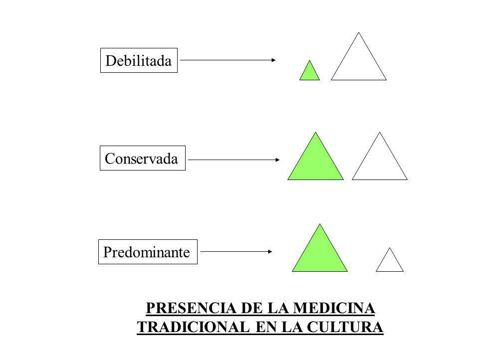 PRESENCIA DE LA MEDICINA TRADICIONAL EN LA CULTURA