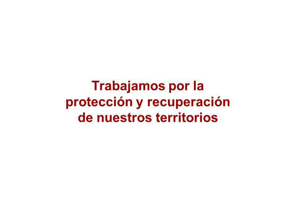 Trabajamos por la protección y recuperación de nuestros territorios