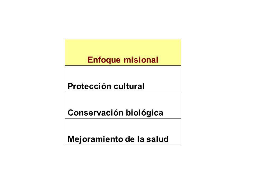 Enfoque misional Protección cultural Conservación biológica Mejoramiento de la salud