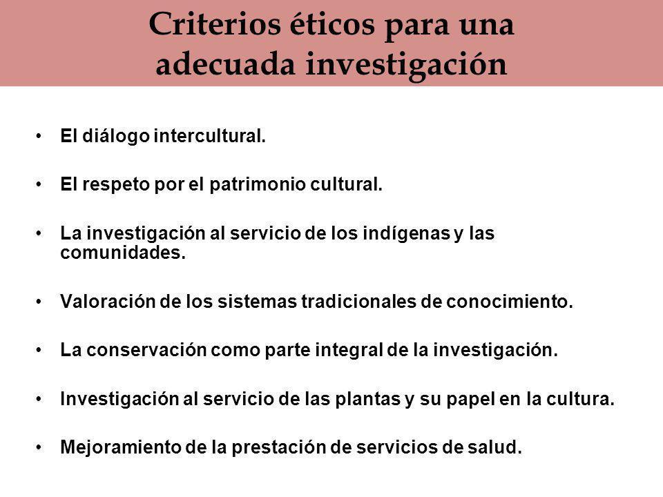 Criterios éticos para una adecuada investigación