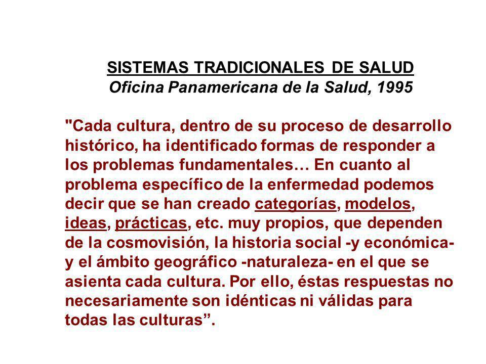 SISTEMAS TRADICIONALES DE SALUD Oficina Panamericana de la Salud, 1995