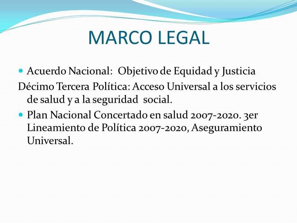 MARCO LEGAL Acuerdo Nacional: Objetivo de Equidad y Justicia
