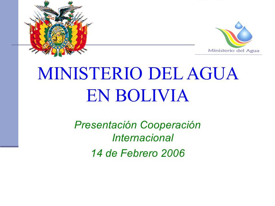 MINISTERIO DEL AGUA EN BOLIVIA