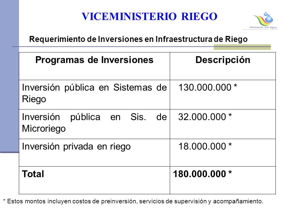 Programas de Inversiones