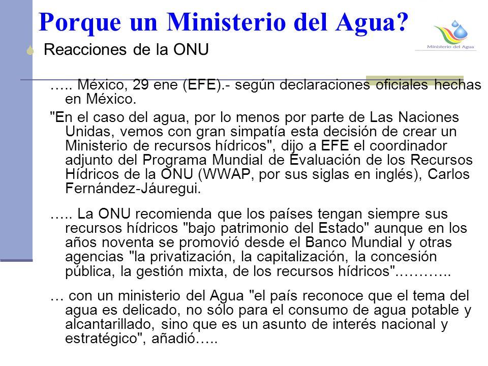 Porque un Ministerio del Agua