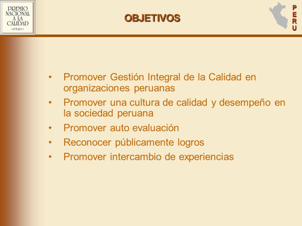 Promover Gestión Integral de la Calidad en organizaciones peruanas