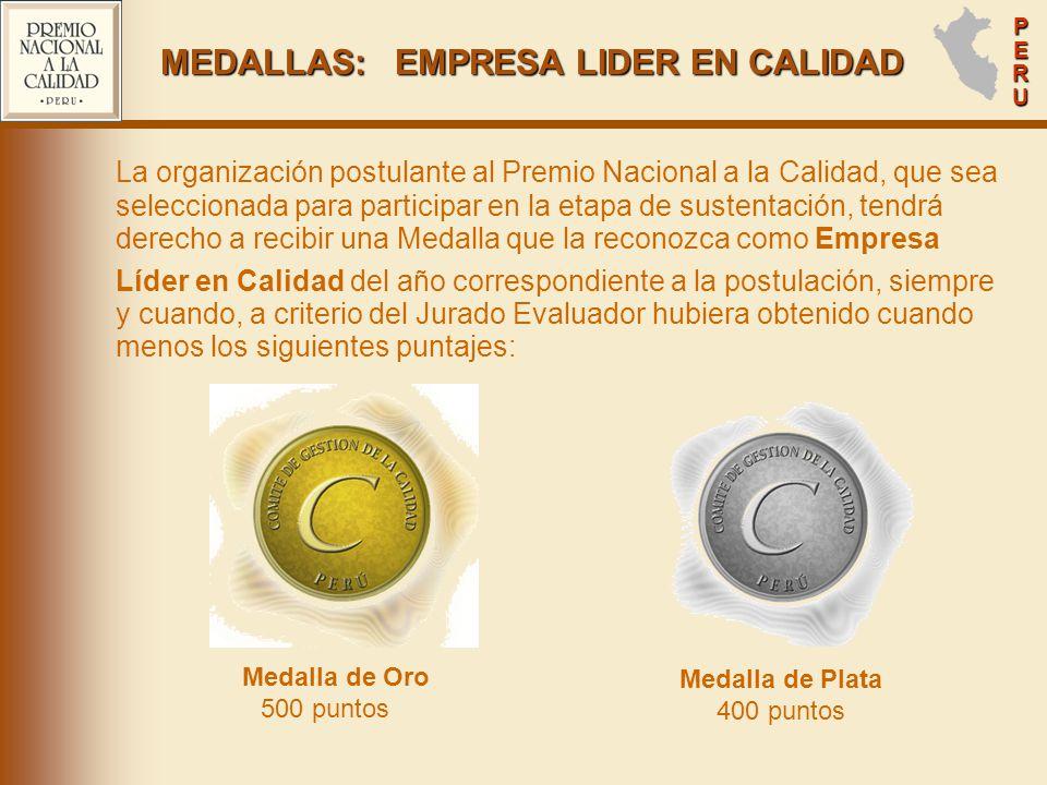 MEDALLAS: EMPRESA LIDER EN CALIDAD