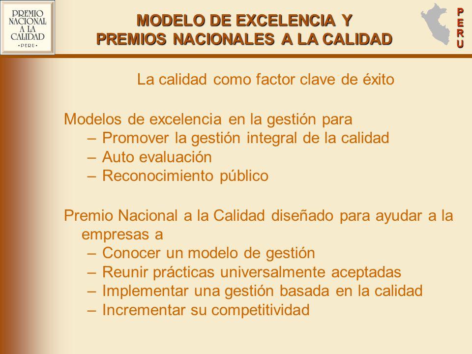 MODELO DE EXCELENCIA Y PREMIOS NACIONALES A LA CALIDAD