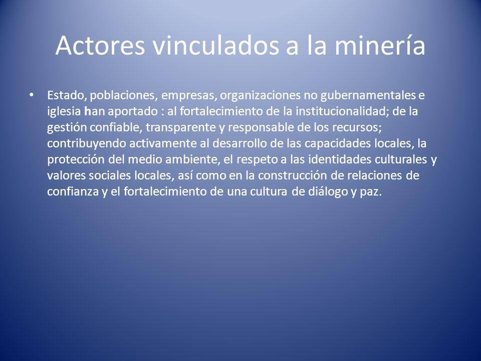 Actores vinculados a la minería