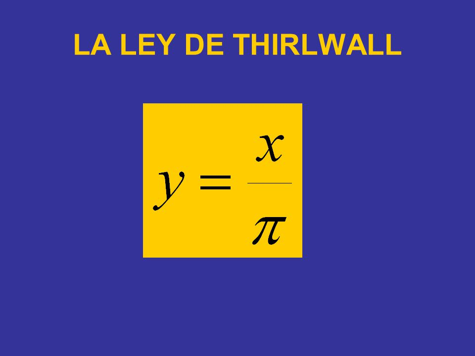 LA LEY DE THIRLWALL