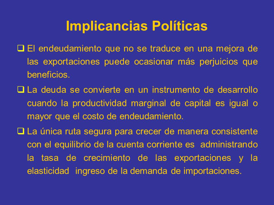Implicancias Políticas