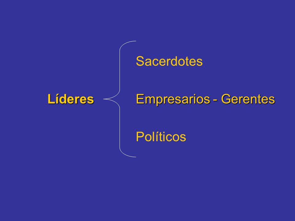 Sacerdotes Líderes Empresarios - Gerentes Políticos