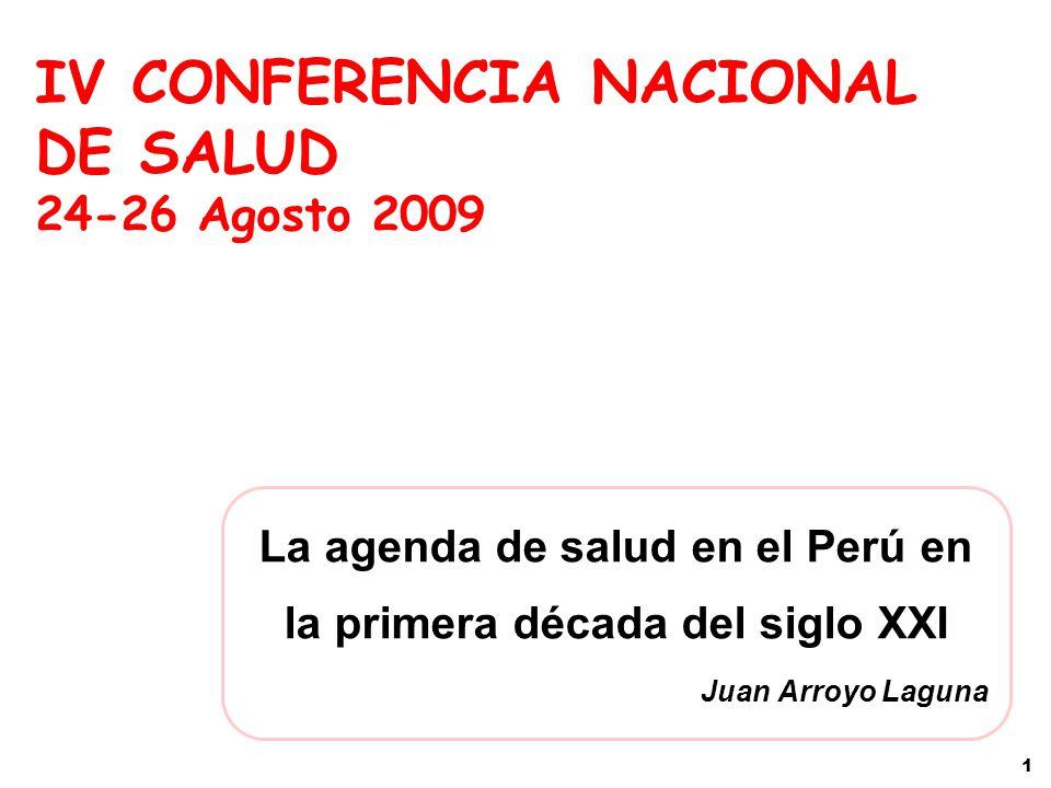 La agenda de salud en el Perú en la primera década del siglo XXI