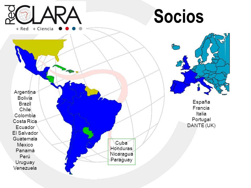 Socios Argentina Bolivia Brazil Chile España Colombia Francia