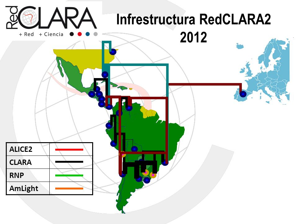 Infrestructura RedCLARA2 2012