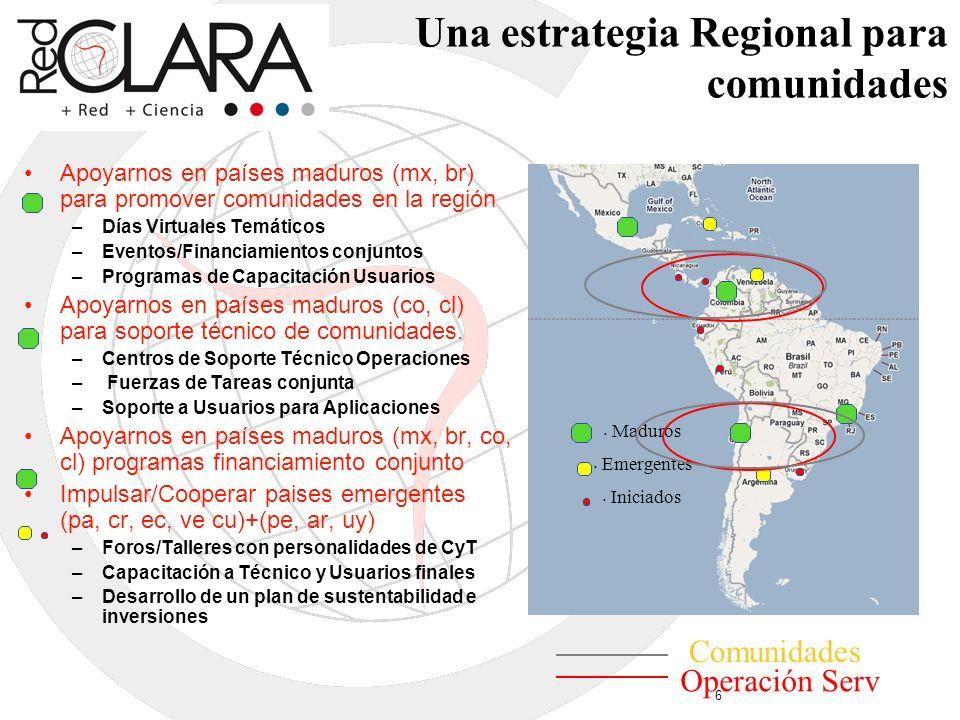 Una estrategia Regional para comunidades