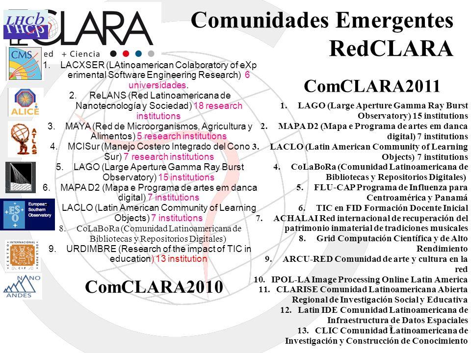 Comunidades Emergentes RedCLARA