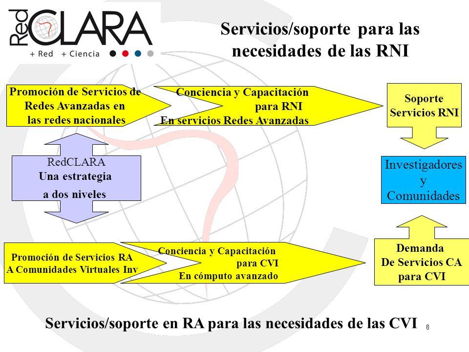 Servicios/soporte para las necesidades de las RNI