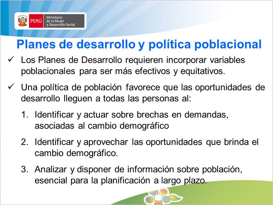 Planes de desarrollo y política poblacional
