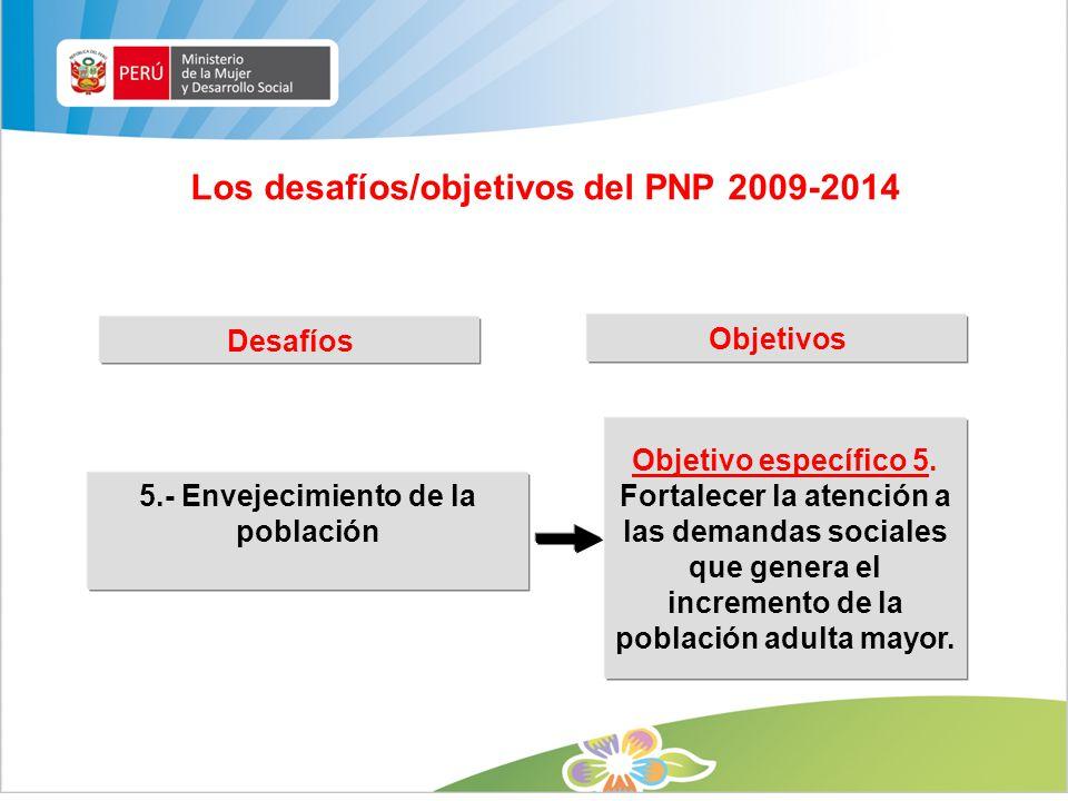 Los desafíos/objetivos del PNP 2009-2014